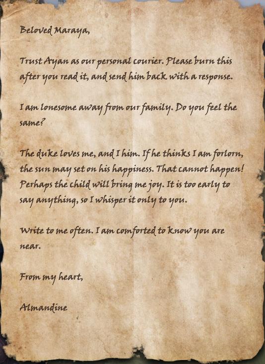 A Letter to Maraya