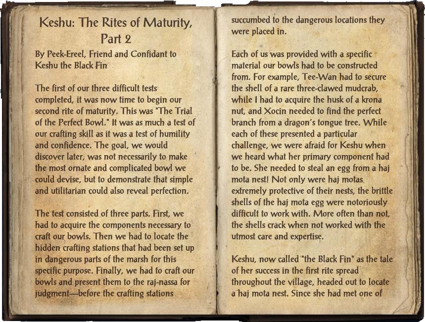 Keshu: The Rites of Maturity, Part 2