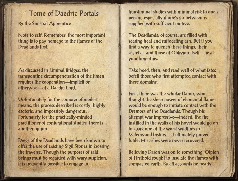 Tome of Daedric Portals