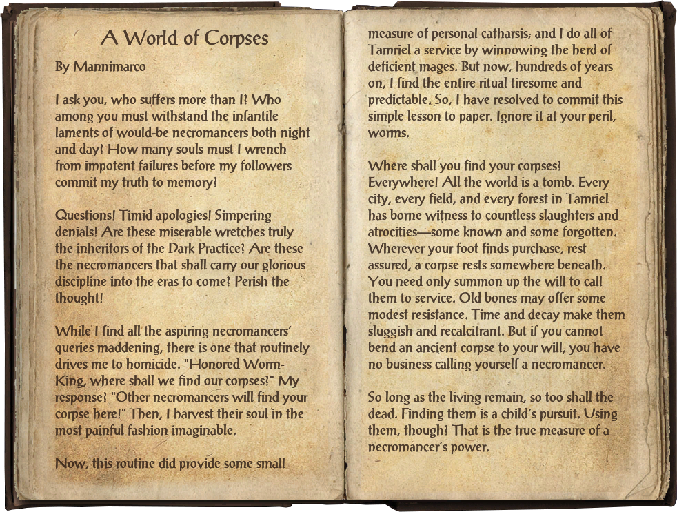 A World of Corpses