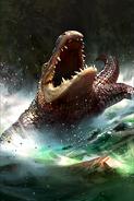 Ravenous Crocodile card art