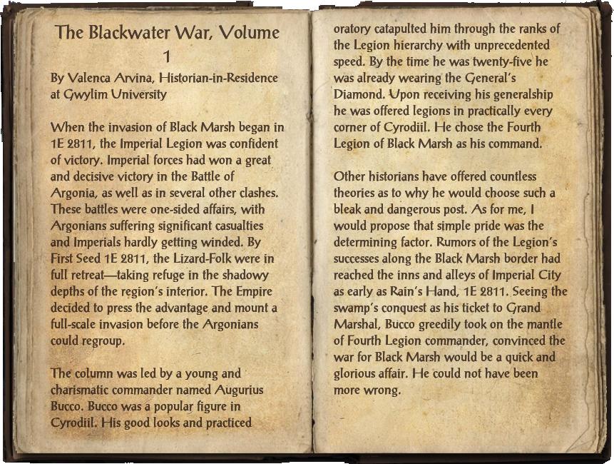 The Blackwater War, Volume 1