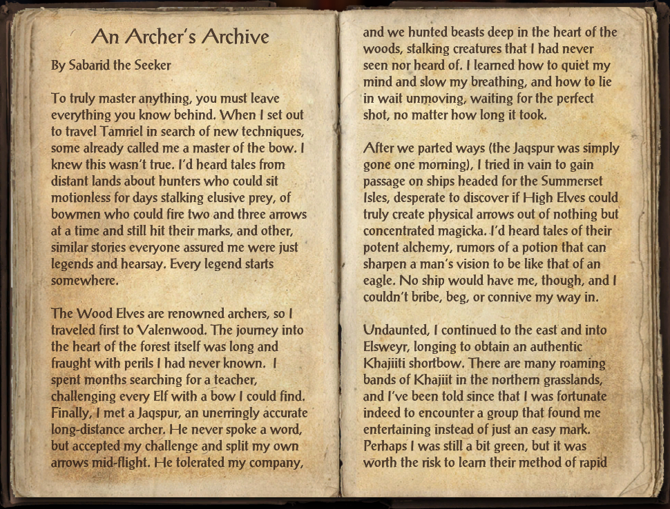 An Archer's Archive