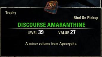 Discourse Amaranthine