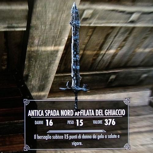 Antica Spada Nord Affilata del Ghiaccio