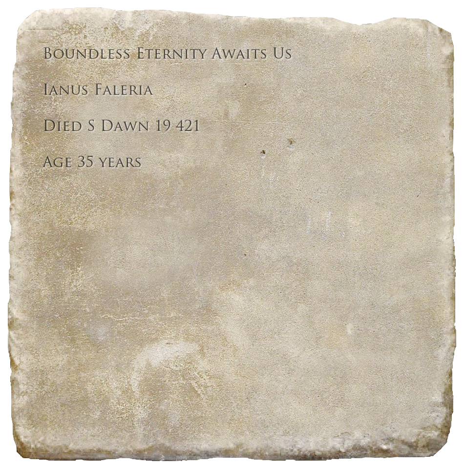 Epitaph for Ianus Faleria
