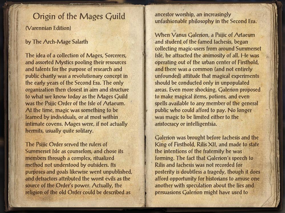 Origin of the Mages Guild (Varennian Edition)