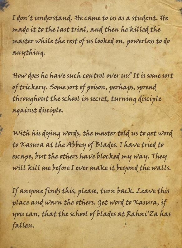 Dead Sword-Disciple's Note