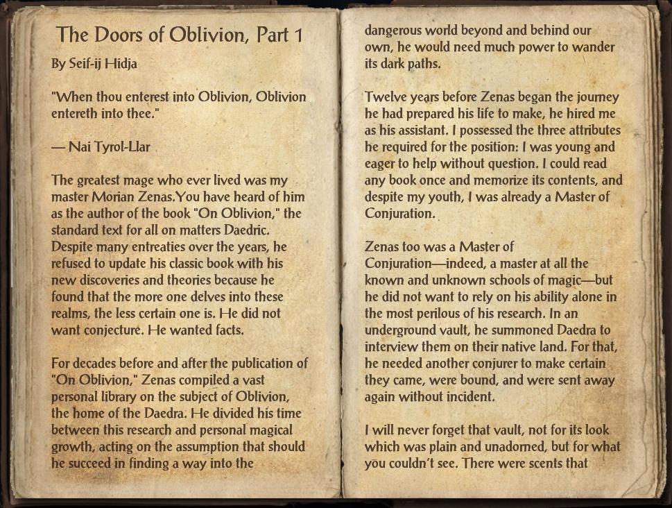The Doors of Oblivion, Part 1