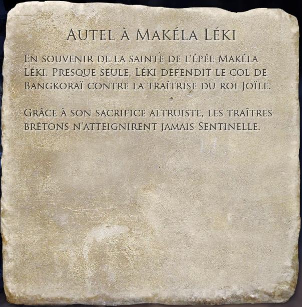 Autel à Makéla Léki
