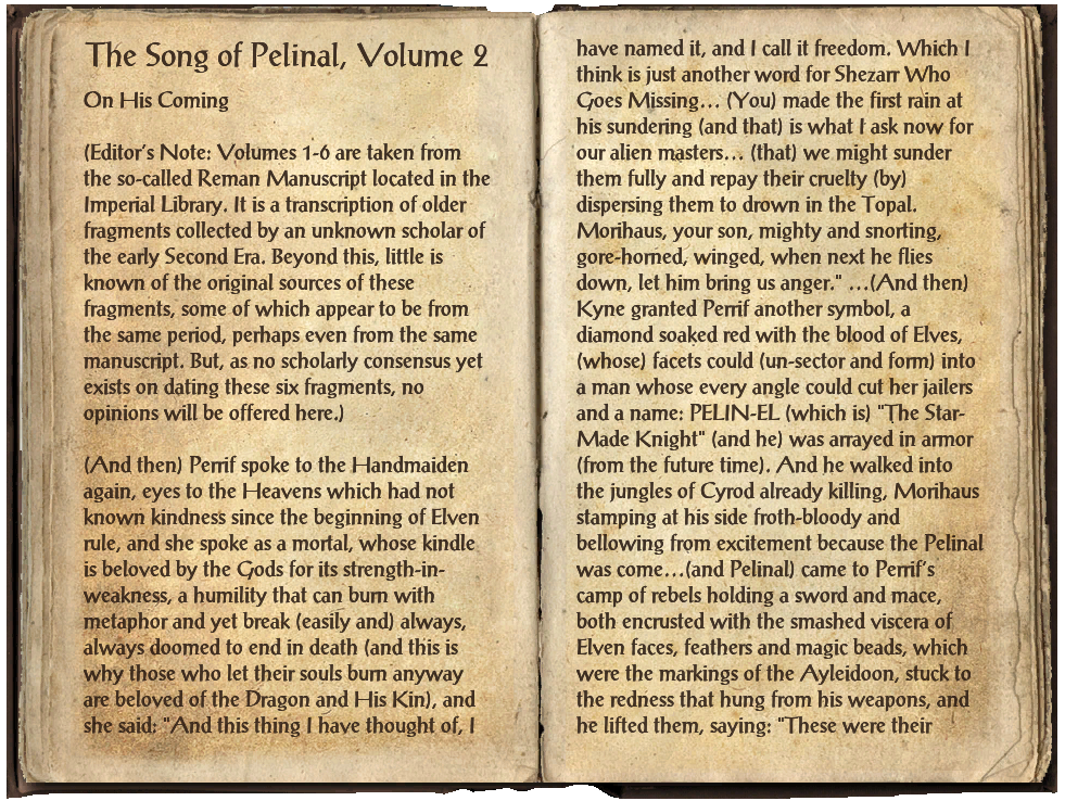 The Song of Pelinal, Volume 2