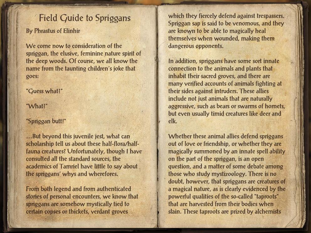 Field Guide to Spriggans