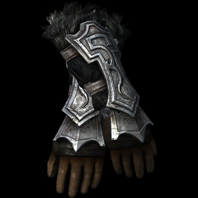 Нордские резные перчатки