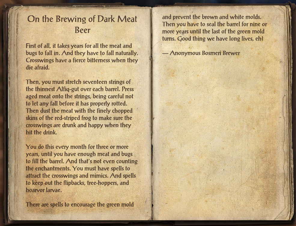 On the Brewing of Dark Meat Beer