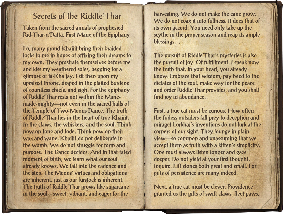 Secrets of the Riddle'Thar