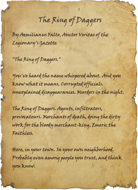 The Ring of Daggers