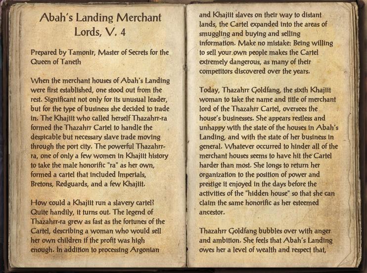 Abah's Landing Merchant Lords, V. 4