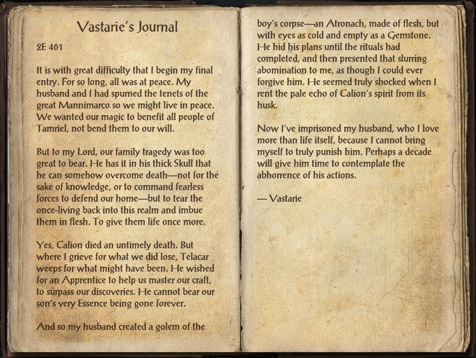 Vastarie's Journal