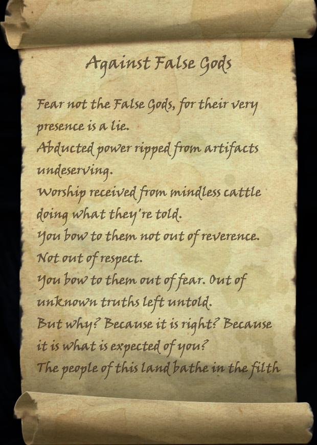 Against False Gods