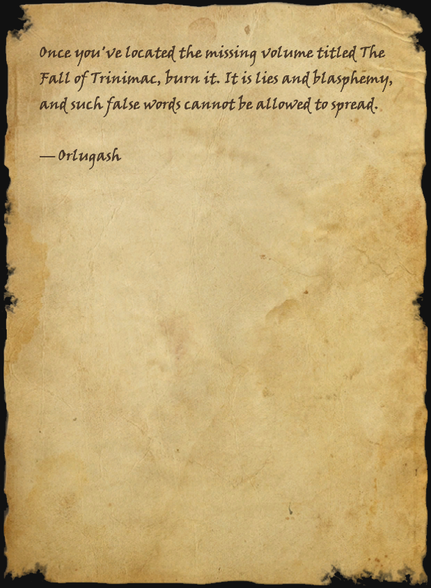 Note from Orlugash