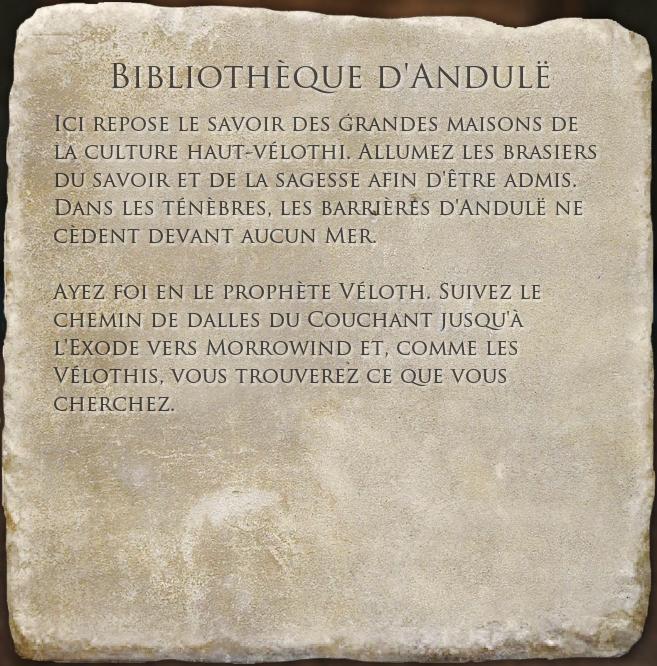 Bibliothèque d'Andulë (Livre)
