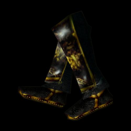 Эбонитовые ботинки