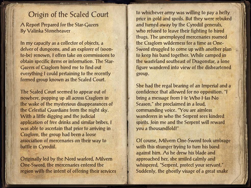 Origin of the Scaled Court