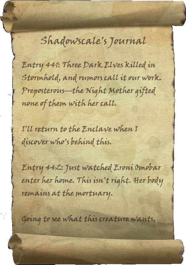 Shadowscale's Journal
