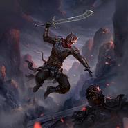 Warclaw Mercenary card art