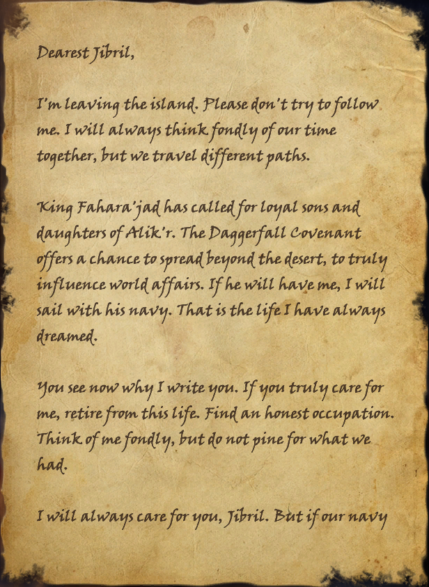 An Elegantly Penned Letter