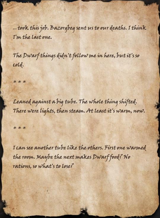 Mercenary's Scorched Journal