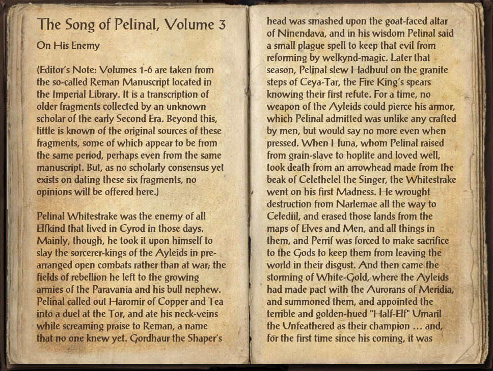 The Song of Pelinal, Volume 3