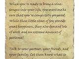 Vine-Tongues: Preparations