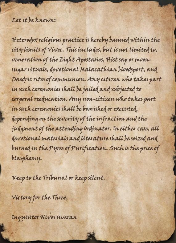 Ordinator Edict: Mandate Sixteen