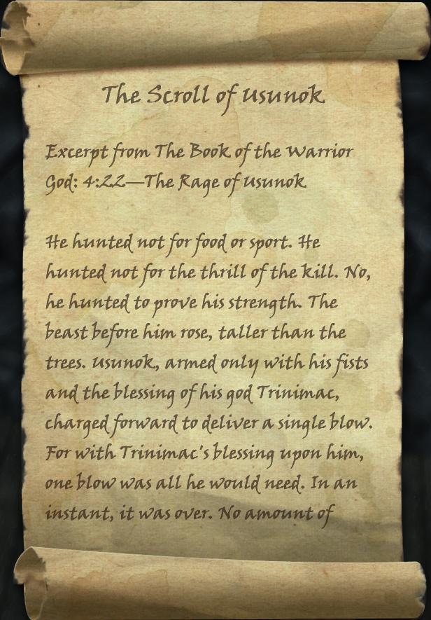 The Scroll of Usunok