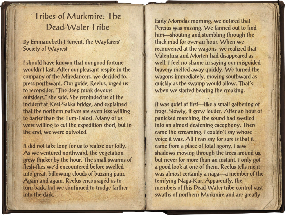 Tribes of Murkmire: The Dead-Water Tribe