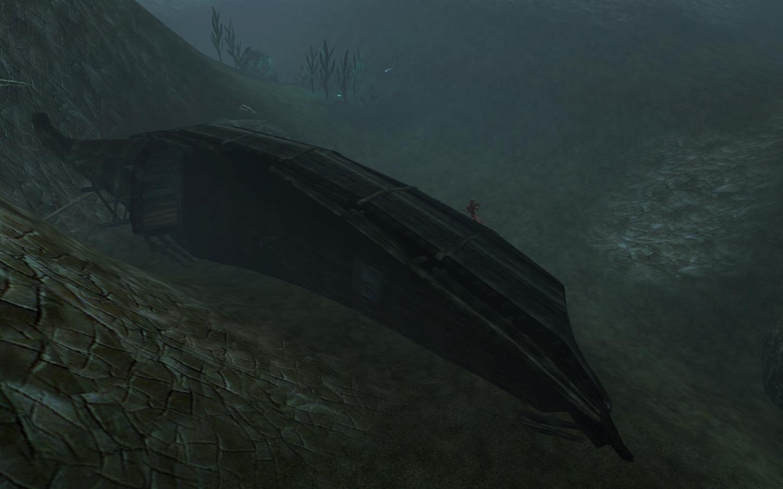 Безжизненные обломки корабля