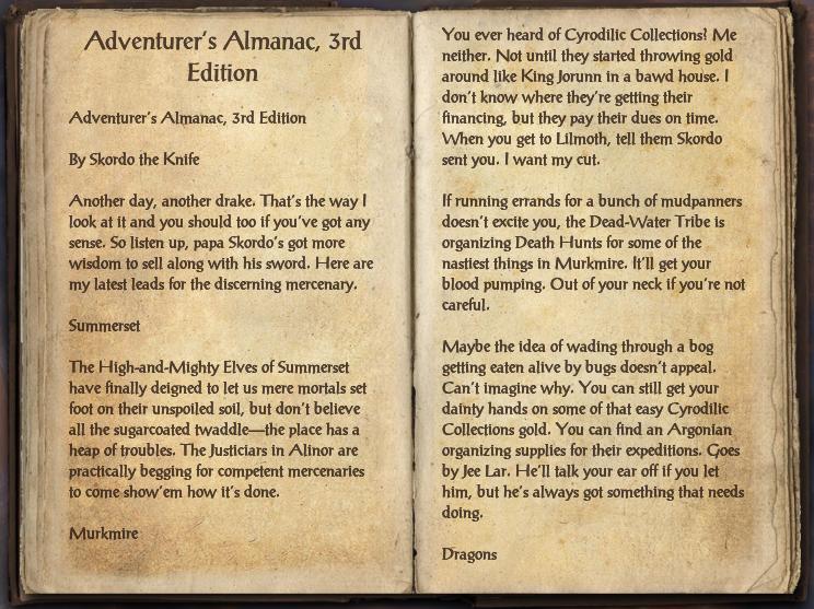 Adventurer's Almanac, 3rd Edition