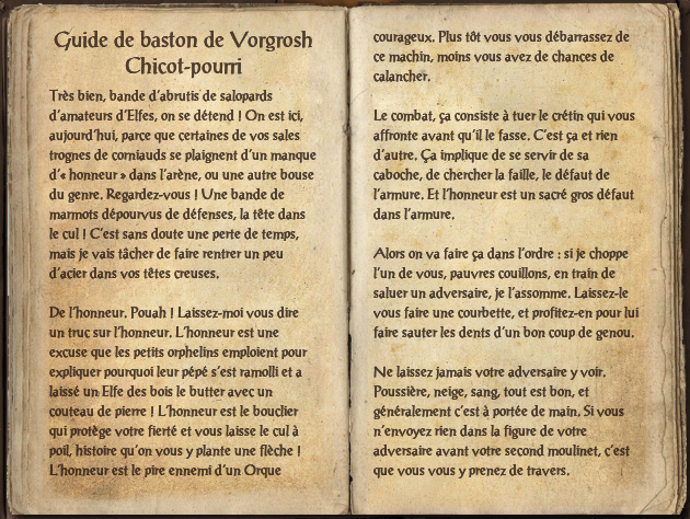 Guide de baston de Vorgrosh Chicot-pourri