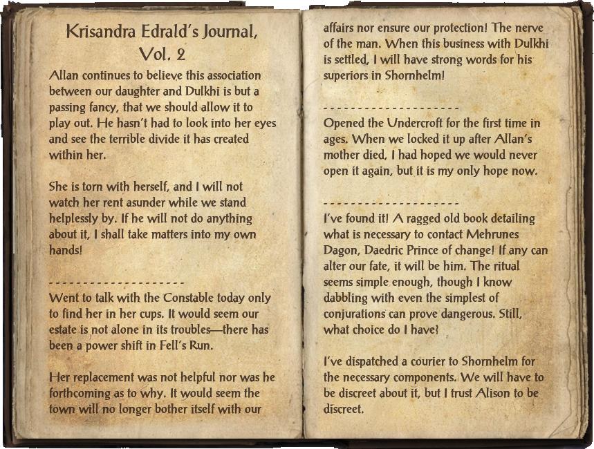 Krisandra Edrald's Journal, Vol. 2