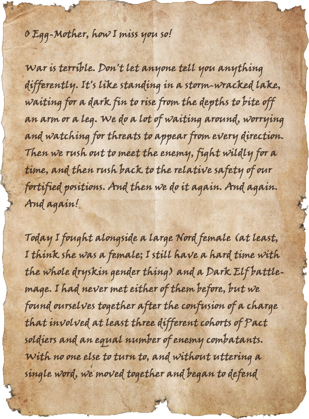 Letters from the War: Cyrodiil