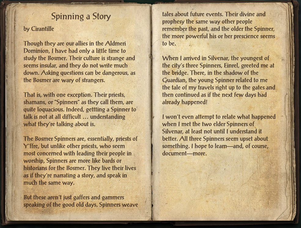 Spinning a Story