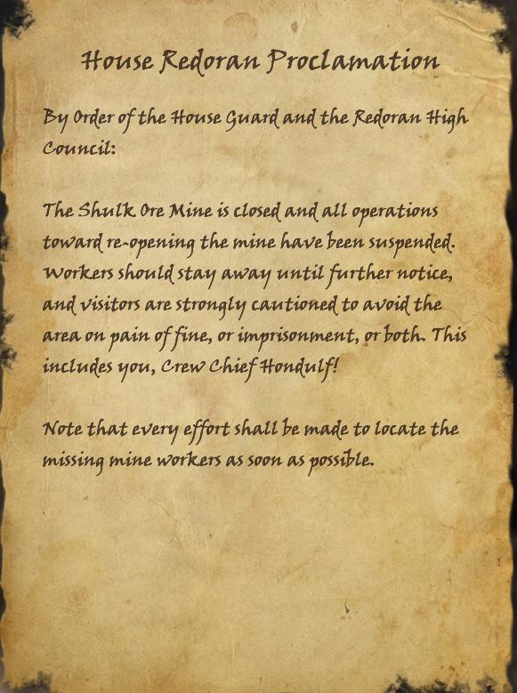 House Redoran Proclamation