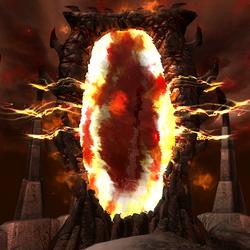Une porte d'Oblivion.