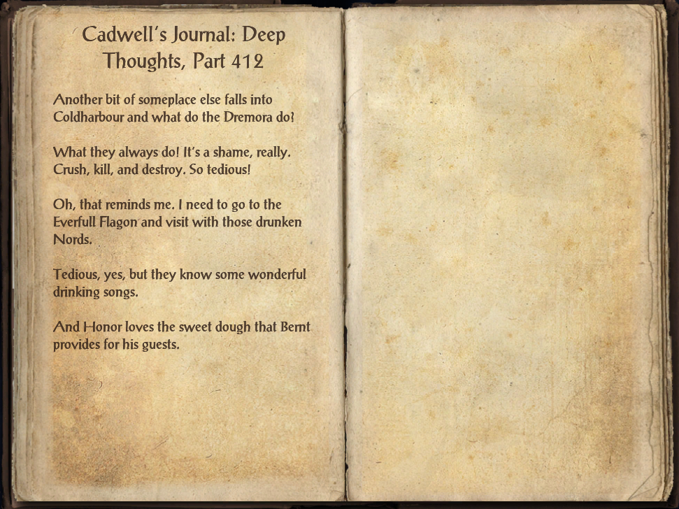 Cadwell's Journal: Deep Thoughts, Part 412