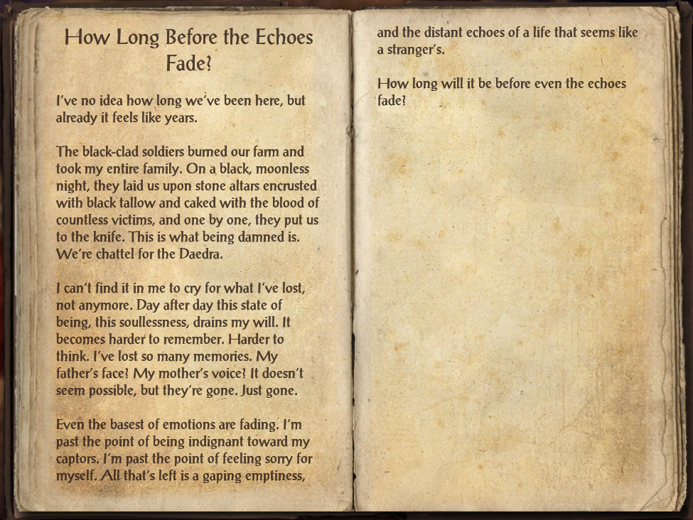 How Long Before the Echoes Fade?