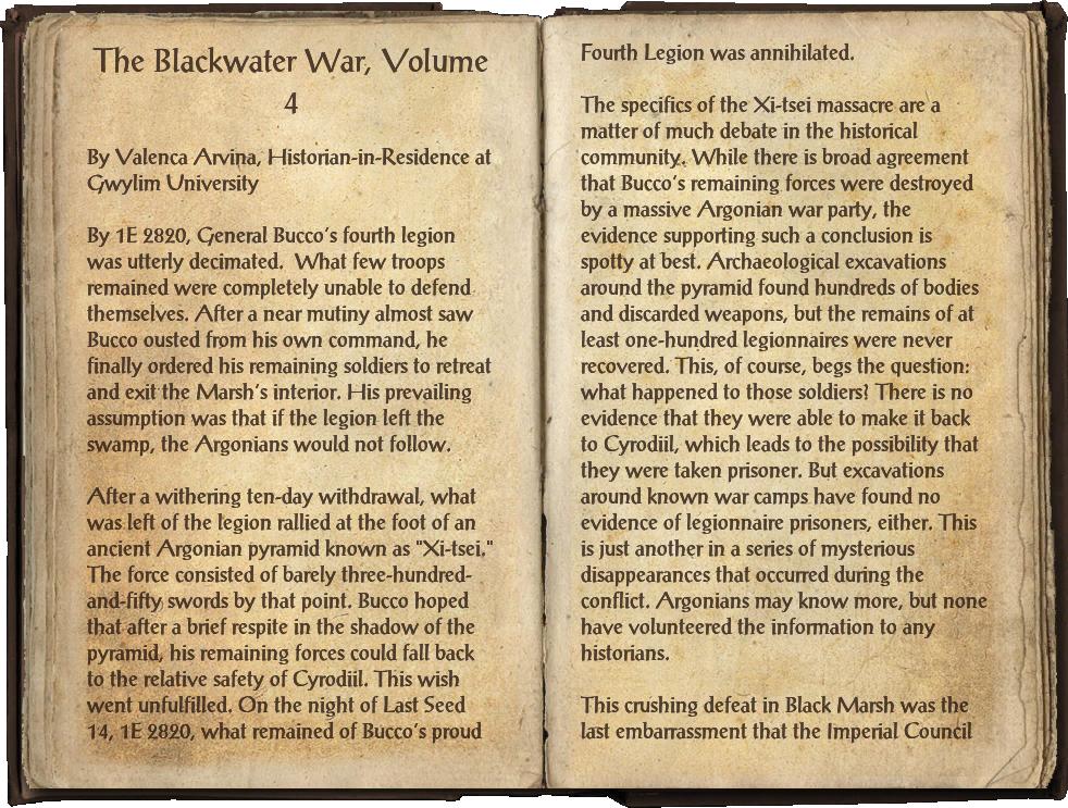 The Blackwater War, Volume 4