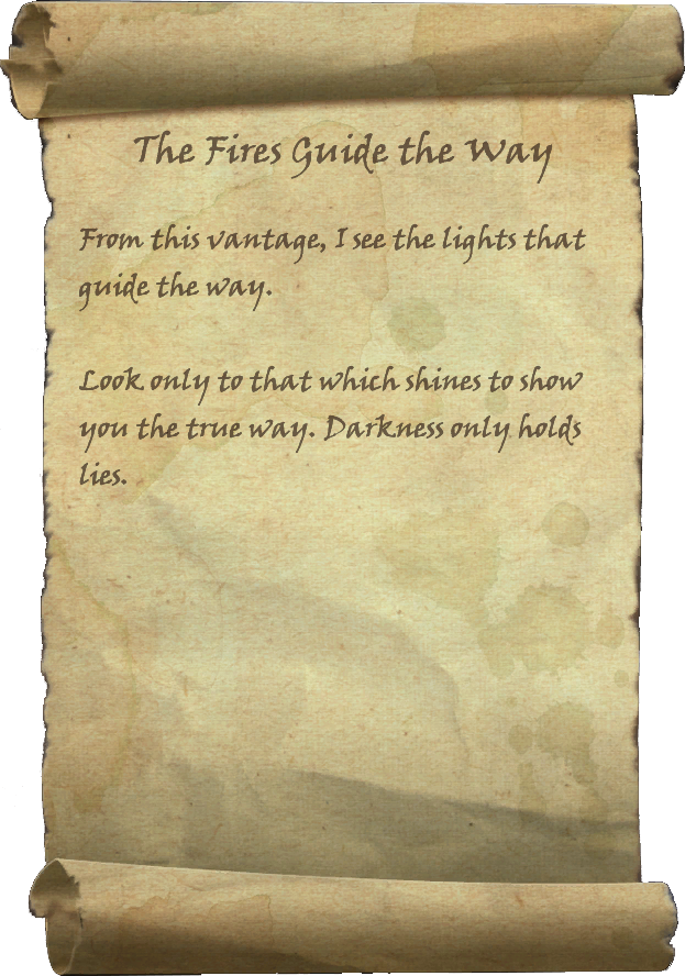 The Fires Guide the Way