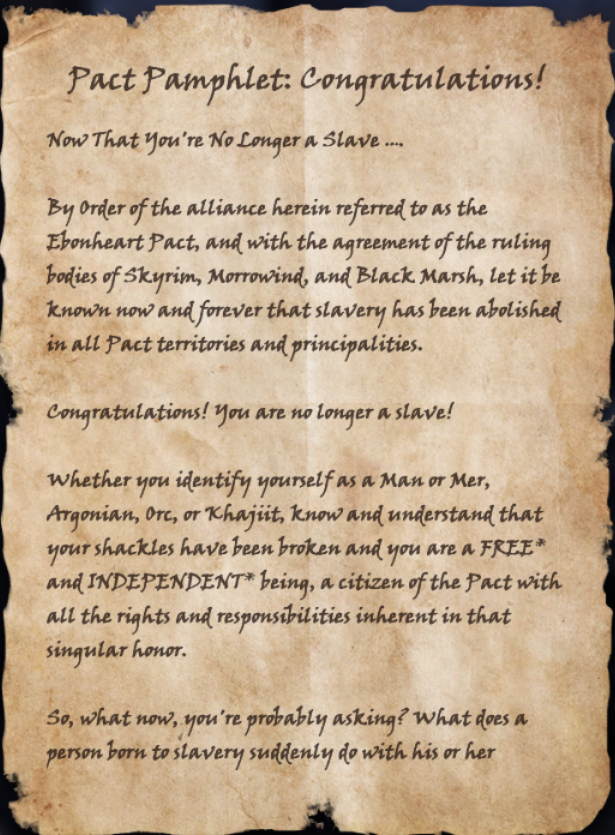 Pact Pamphlet: Congratulations!