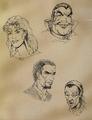 Redguard personaggi concept art
